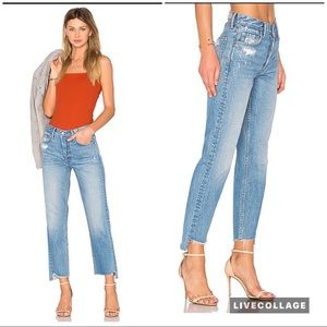 GRLFRND The Helena High Rise straight crop jeans
